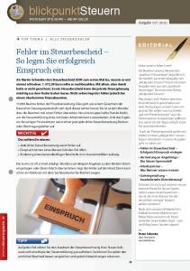WENIGER STEUERN MEHR GELD! Ausgabe