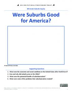 Were Suburbs Good for America?