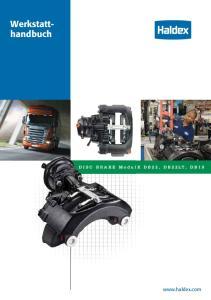 Werkstatthandbuch. DISC BRAKE ModulX DB22, DB22LT, DB19