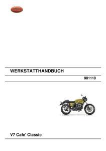 WERKSTATTHANDBUCH. V7 Cafe' Classic