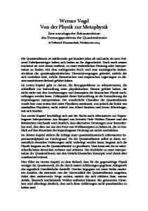 Werner Vogd Von der Physik zur Metaphysik