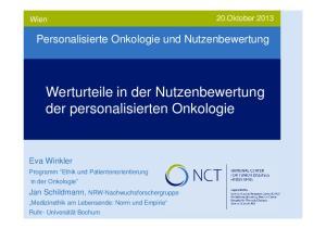 Werturteile in der Nutzenbewertung der personalisierten Onkologie
