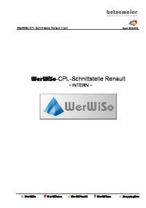 WerWiSo-CPL-Schnittstelle Renault Intern Stand CPL-Schnittstelle Renault - INTERN -