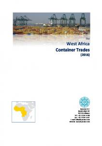 West Africa Container Trades (2016)