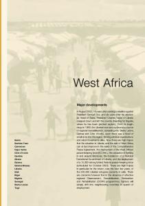 West Africa. Major developments