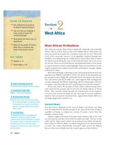 West Africa. Section. West African Civilizations