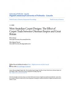 West Anatolian Carpet Designs: The Effect of Carpet Trade between Ottoman Empire and Great Britain