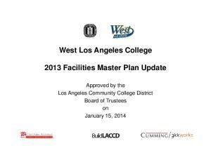 West Los Angeles College 2013 Facilities Master Plan Update