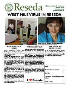 WEST NILE VIRUS IN RESEDA