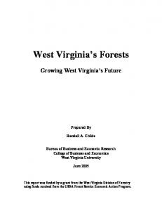 West Virginia s Forests