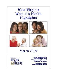 West Virginia Women s Health Highlights