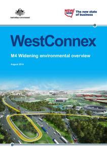 WestConnex. M4 Widening environmental overview. August 2014