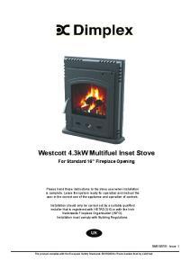 Westcott 4.3kW Multifuel Inset Stove
