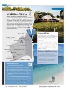 WESTERN AUSTRALIA > PERTH ESSENTIALS. Margaret River. Rottnest Island Experience. Timor Sea. Indian Ocean. Southern Ocean. AUSTRALIA Western Australia