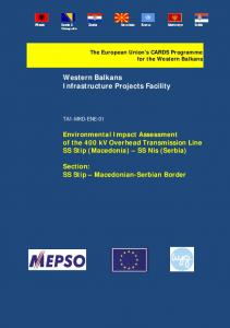 Western Balkans Infrastructure Projects Facility