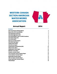 WESTERN CANADA SECTION AMERICAN WATER WORKS ASSOCIATION