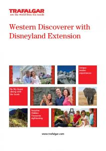 Western Discoverer with Disneyland Extension