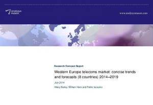 Western Europe telecoms market: concise trends and forecasts (8 countries)