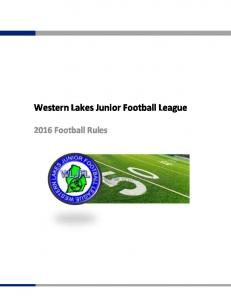 Western Lakes Junior Football League Football Rules