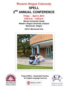 Western Oregon University SPELL 2 ND ANNUAL CONFERENCE