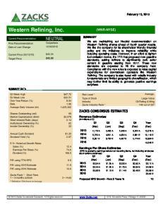 Western Refining, Inc