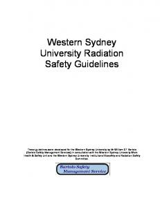 Western Sydney University Radiation Safety Guidelines