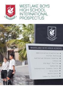 WESTLAKE BOYS HIGH SCHOOL INTERNATIONAL PROSPECTUS