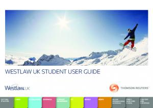 WESTLAW UK STUDENT USER GUIDE