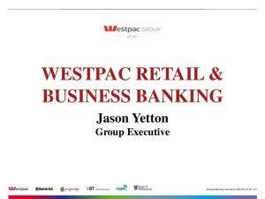 WESTPAC RETAIL & BUSINESS BANKING
