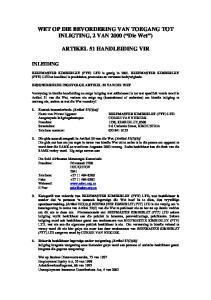 WET OP DIE BEVORDERING VAN TOEGANG TOT INLIGTING, 2 VAN 2000 ( Die Wet ) ARTIKEL 51 HANDLEIDING VIR