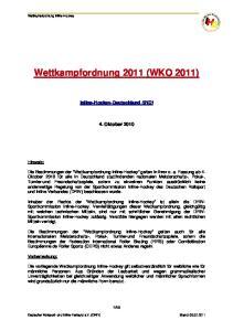 Wettkampfordnung 2011 (WKO 2011)