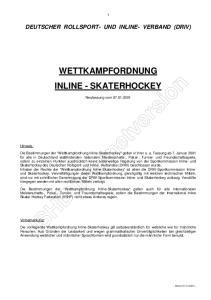 WETTKAMPFORDNUNG INLINE - SKATERHOCKEY