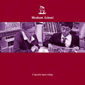 Wexham School. A Specialist Sports College