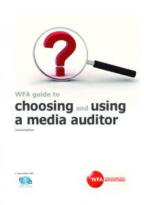 WFA guide to choosing and using a media auditor