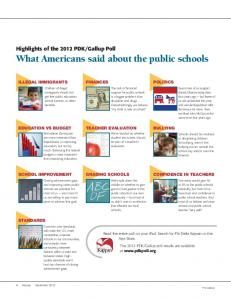 What Americans said about the public schools