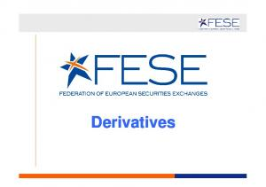 WHAT ARE DERIVATIVES?