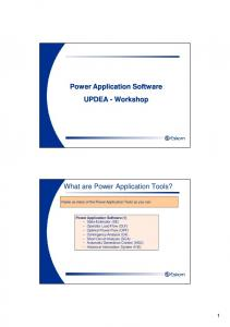 What are Power Application Tools?