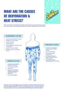 WHAT ARE THE CAUSES OF DEHYDRATION & HEAT STRESS?