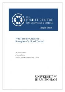 What are the Character Strengths of a Good Doctor?