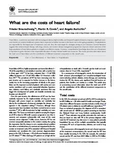 What are the costs of heart failure?