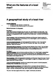 What are the features of a local river? A geographical study of a local river