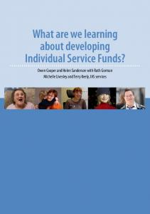What are we learning about developing Individual Service Funds?