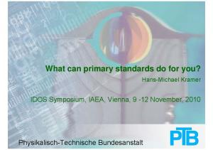 What can primary standards do for you?