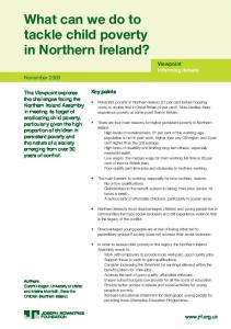 What can we do to tackle child poverty in Northern Ireland?