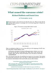 What caused the eurozone crisis?