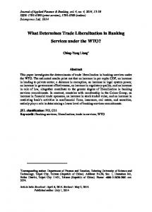 What Determines Trade Liberalization in Banking Services under the WTO?