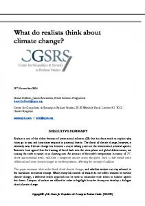 What do realists think about climate change?