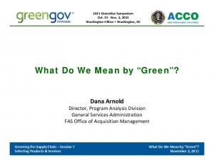 What Do We Mean by Green?