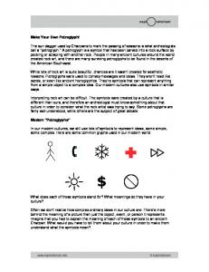What does each of these symbols stand for? What meanings do they have in your culture?