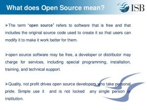 What does Open Source mean?